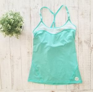 Roxy Mint Lace Shelf Bra Adjustable Tank Top